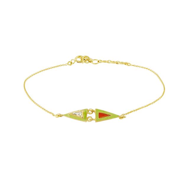 Swoonery-Diamond Holi Enamel Bracelet