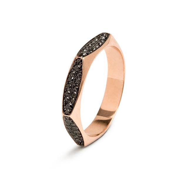 Swoonery-Black Diamond Rhona Ring