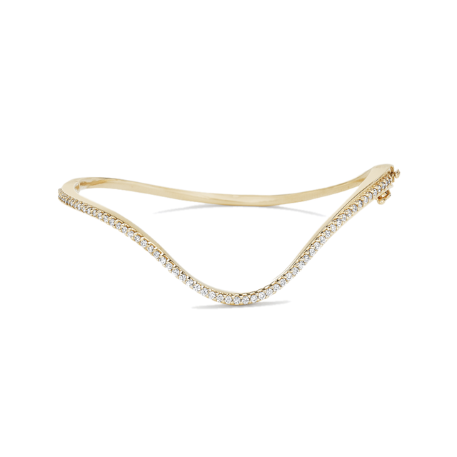 Swoonery-Infinity Diamond Curved Bracelet