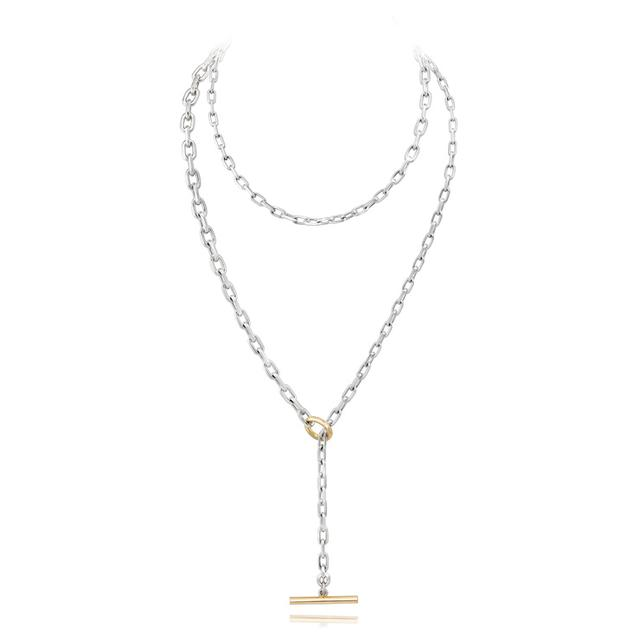 Swoonery-Saxon Graduated Chain Link Toggle Necklace