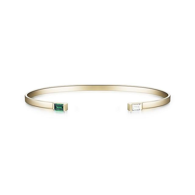 Swoonery-Gaia Cuff With Emerald Detail