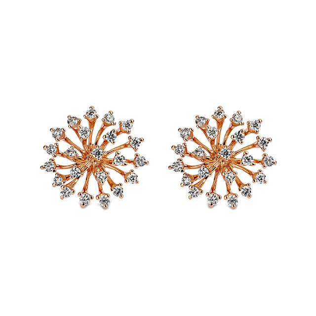 Swoonery-Rose Gold Luminus Studs