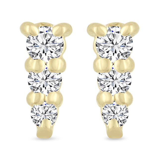 Swoonery-Graduating Diamond Stud Earring