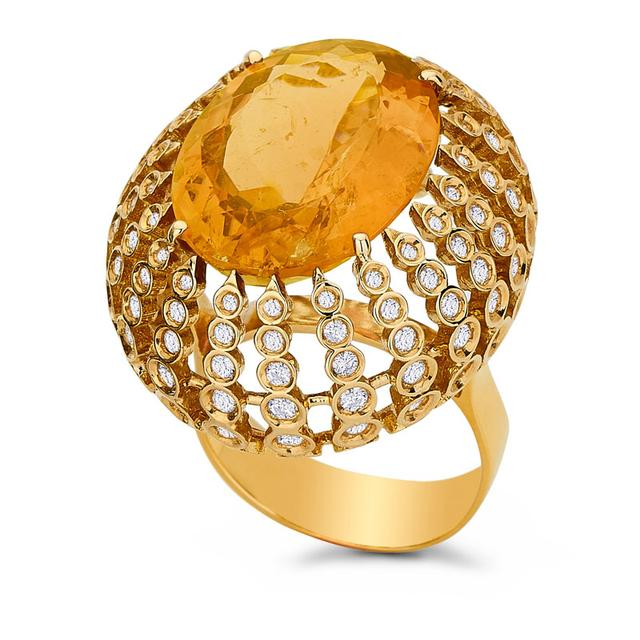 Swoonery-Petit Pois Ring - Citrine
