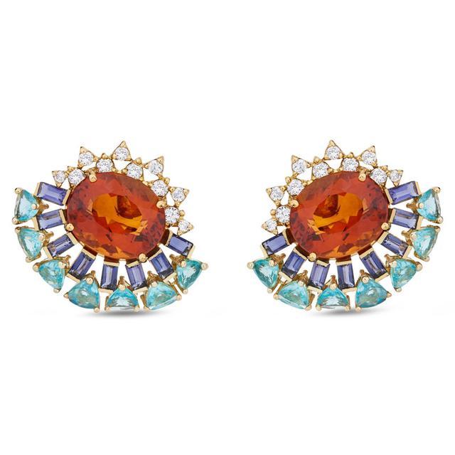 Swoonery-Magic earrings - Citrine