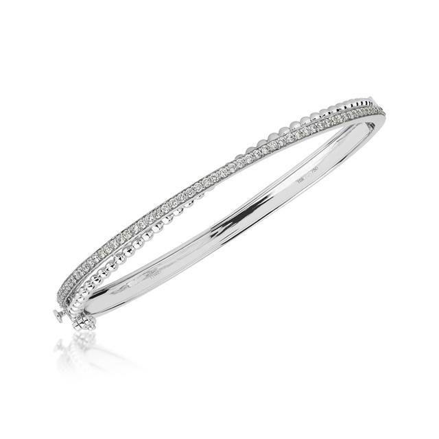Swoonery-White Gold Bubbles Bracelet