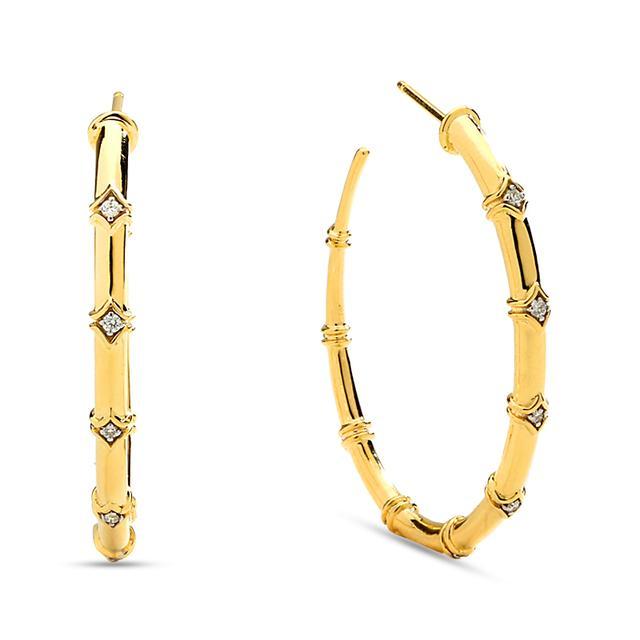 Swoonery-Mogul Diamond Hoop Earrings