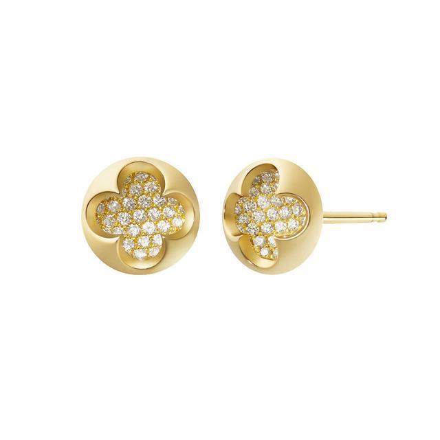 Swoonery-Diamond Mia Earrings