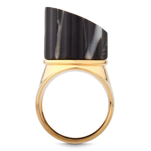 Swoonery-BLACK MARBLE INCOMPLETE COLUMN RING