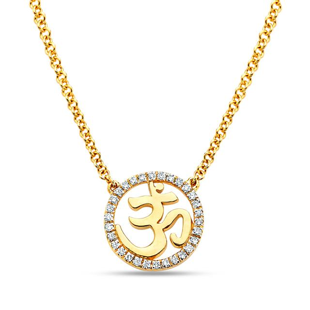 Swoonery-20K Om Dainty Necklace