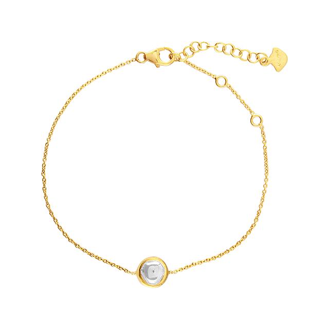 Swoonery-Kundan Vintage Diamond Round Fine Chain Bracelet