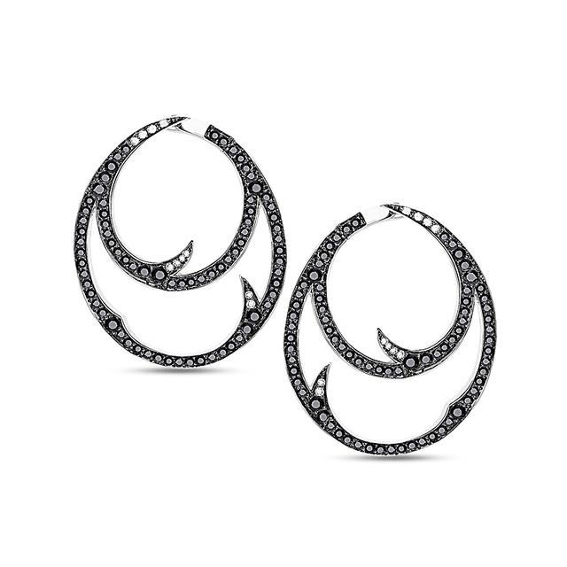 Swoonery-Thorn Double Hoop Earrings
