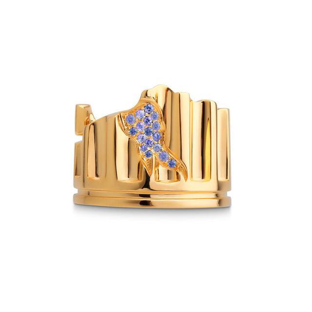 Swoonery-LIGHT BLUE SAPPHIRE COLUMN FRAGMENT RING