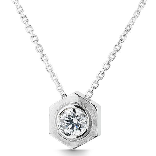 Swoonery-Diamond Big Nut Pendant