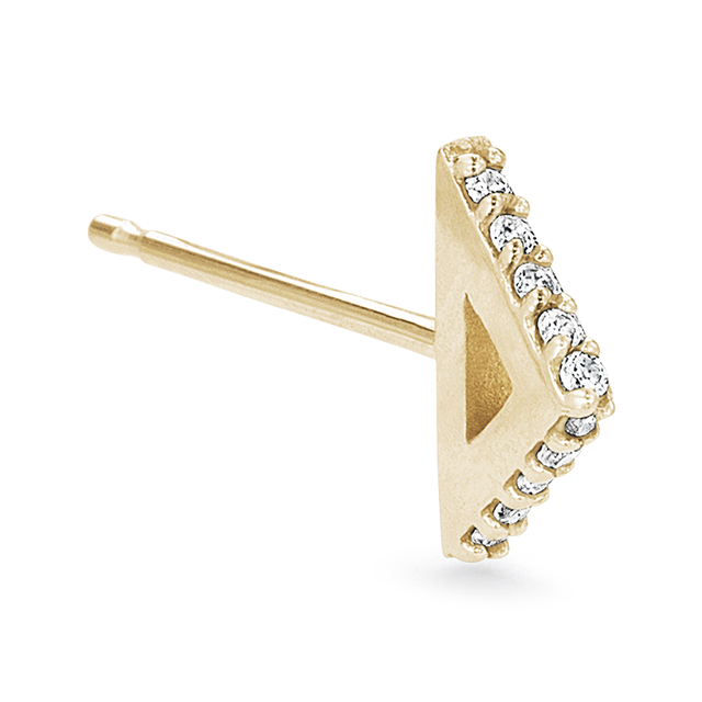 Swoonery-Pave Triangle Single Stud