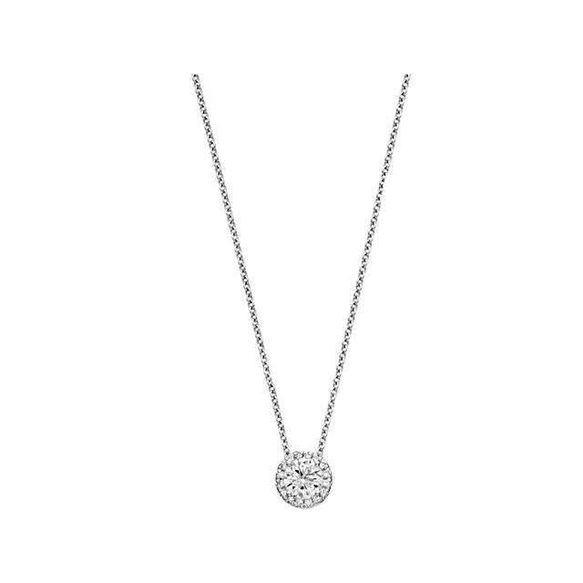 Swoonery-Halo Diamond Pendant