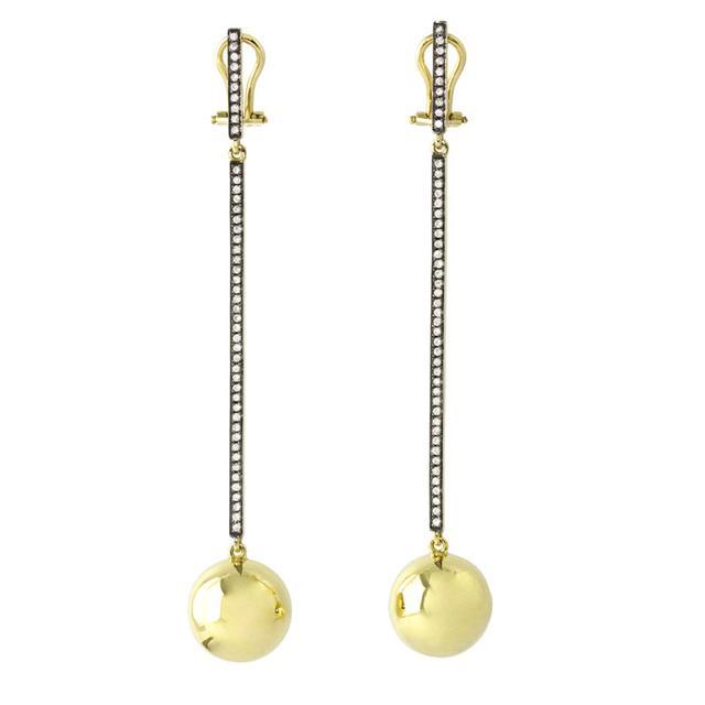 Swoonery-Cyclos Diamond Line Earrings