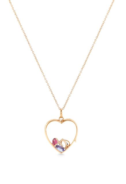 Swoonery-Large Rose Gold Heart Loquet