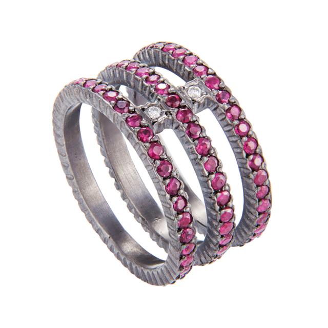 Swoonery-Yossi Harari Lilah Triple Ring