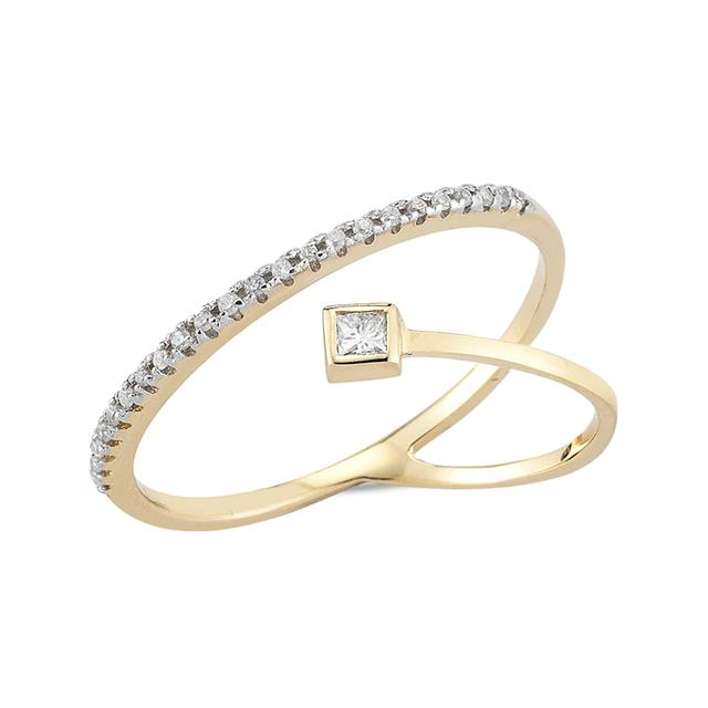 Swoonery-Diamond Point of Focus Ring