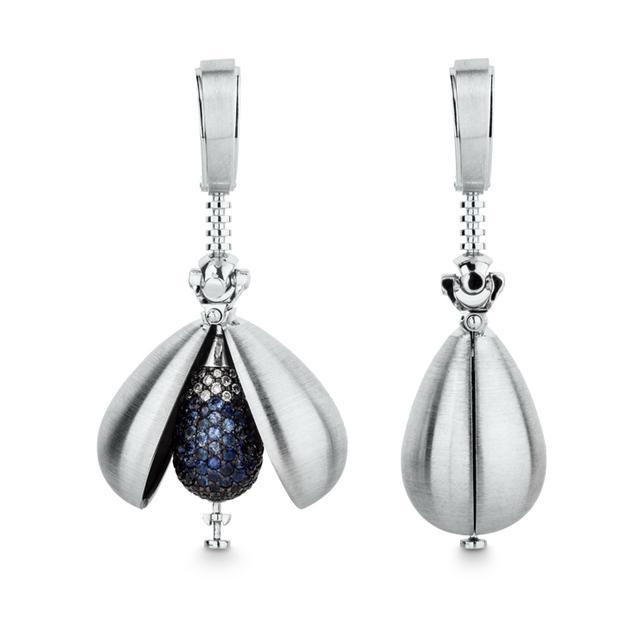Swoonery-Sapphire Drops Earrings