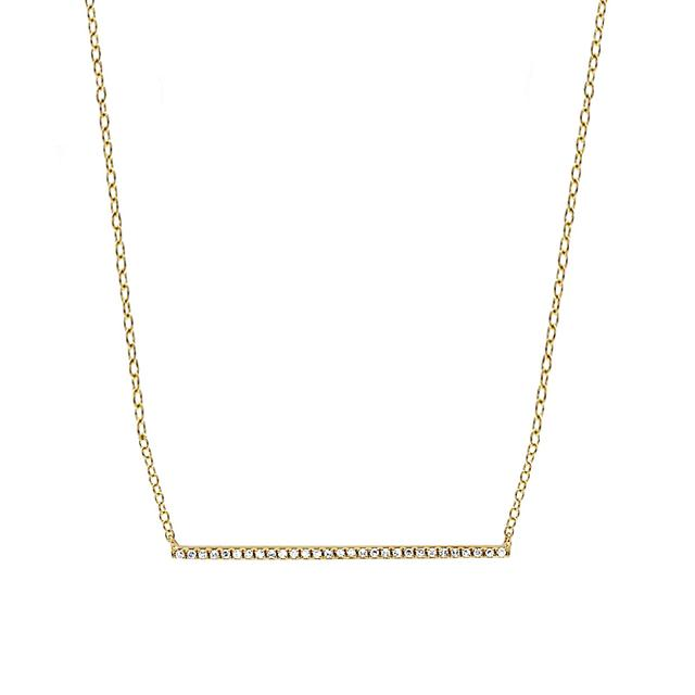 Swoonery-Yellow Gold Bar Necklace