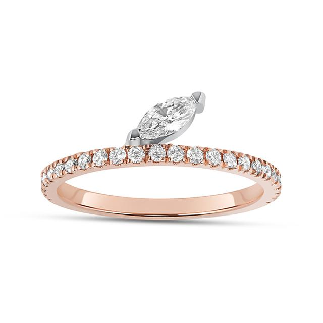 Swoonery-Diamond Marquise Defne Pave Ring