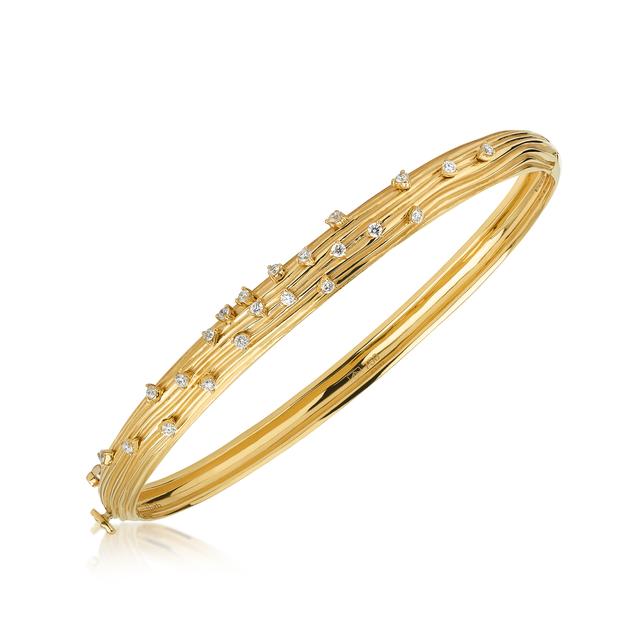 Swoonery-Yellow Gold Plisse Bracelet