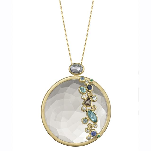 Swoonery-THROWING STONES CRYSTAL NECKLACE
