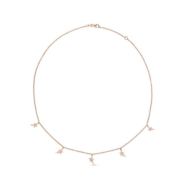 Swoonery-5 Star Chain Necklace