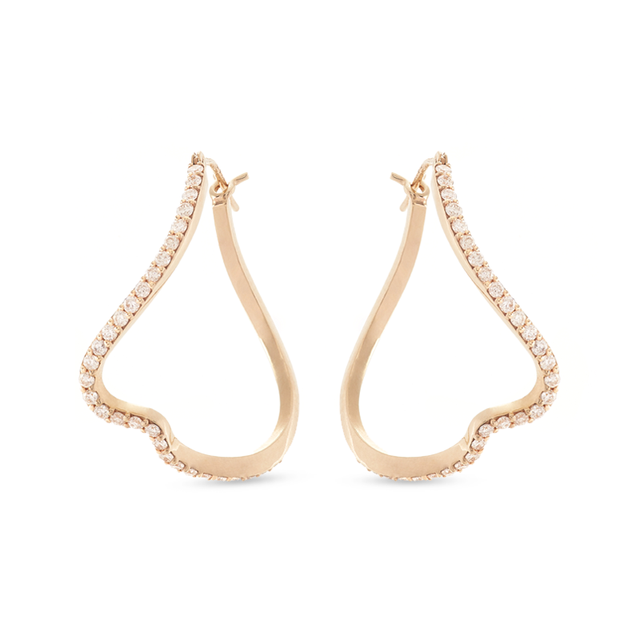 Swoonery-Infinity Curved Hoop Earrings