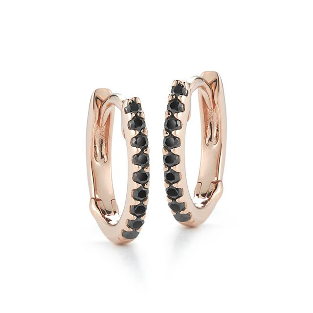 Swoonery-Rose Gold DRD Hoops