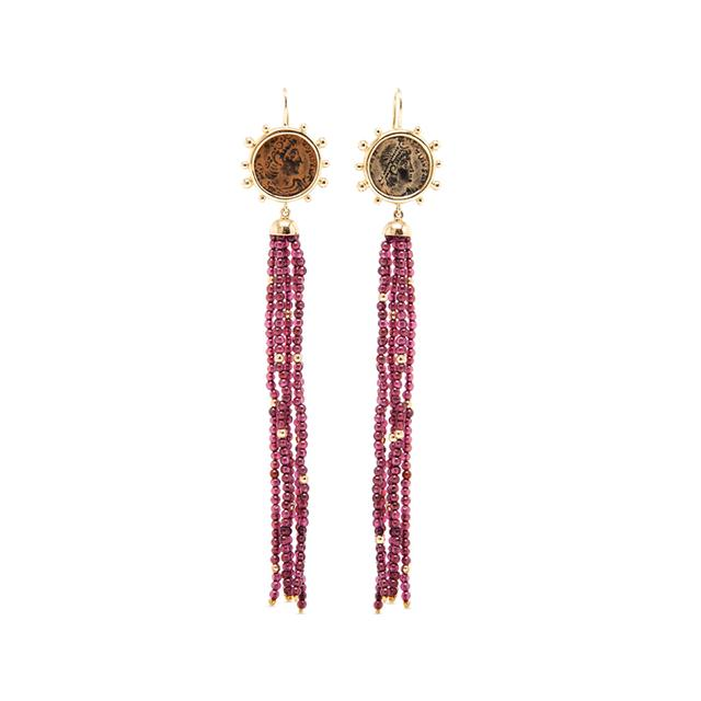 Swoonery-Constantine Tassel Earrings