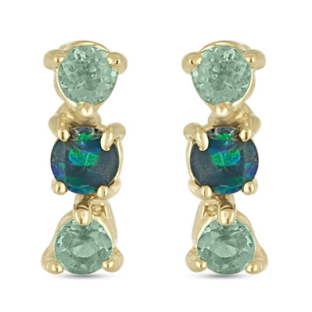 Swoonery-Chrome Diopside Stud Earring