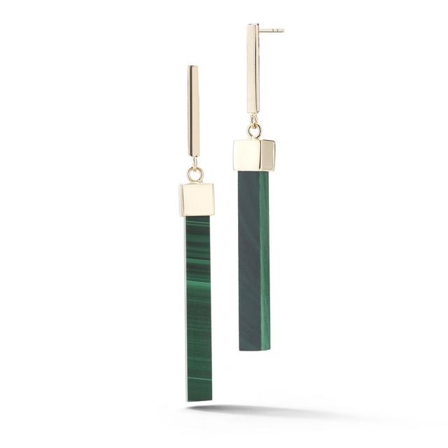 Swoonery-Malachite Bar Earring