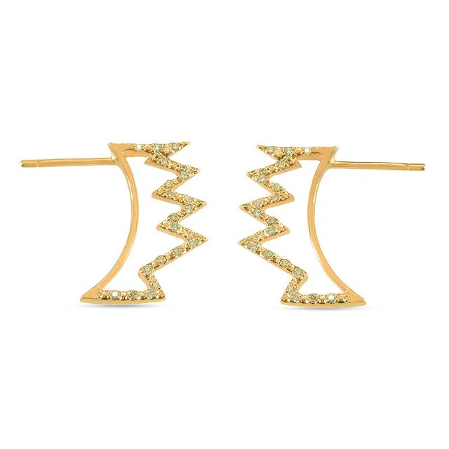 Swoonery-Crown Earrings