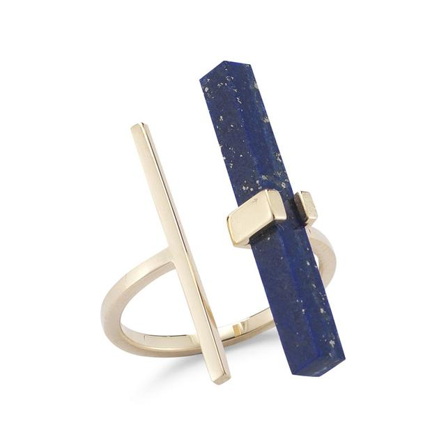 Swoonery-Lapis Parrell Bar Ring