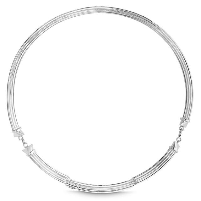 Swoonery-STERLING SILVER FRACTURED COLUMN CHOKER