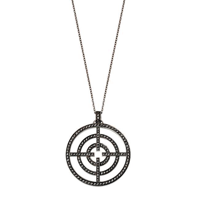 Swoonery-White Gold Black Diamond License to Akillis Pendant