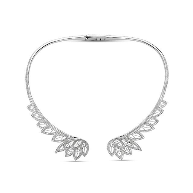 Swoonery-Feather Statement Necklace