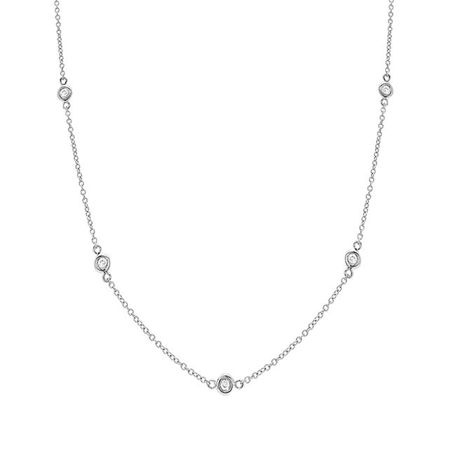 Swoonery-10 Diamond Bezel Layer Chain
