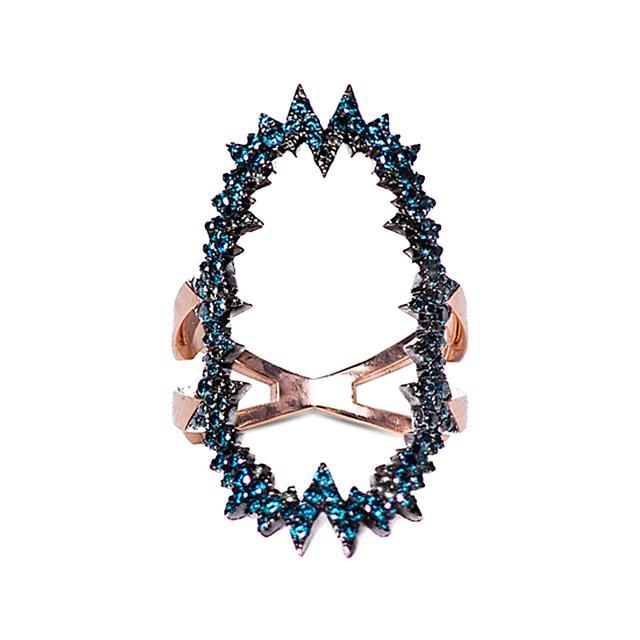 Swoonery-Blue Diamond Atomic Ring