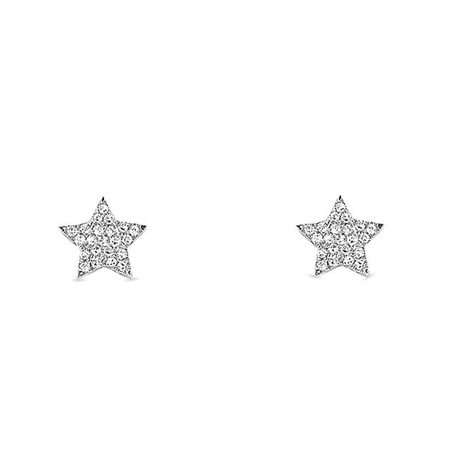 Swoonery-Diamond Star Studs