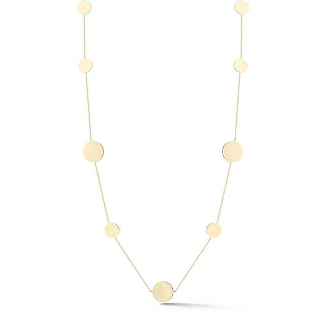 Swoonery-Gold Disk Layer Necklace