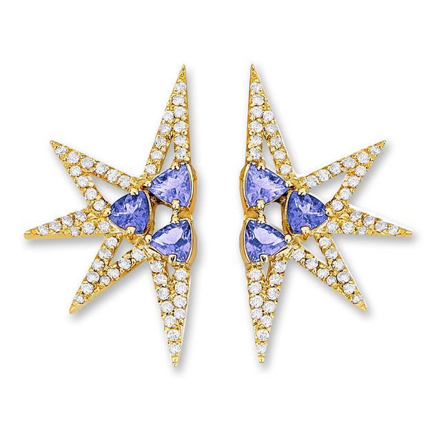 Swoonery-Shine Mini earrings - Tanzanites