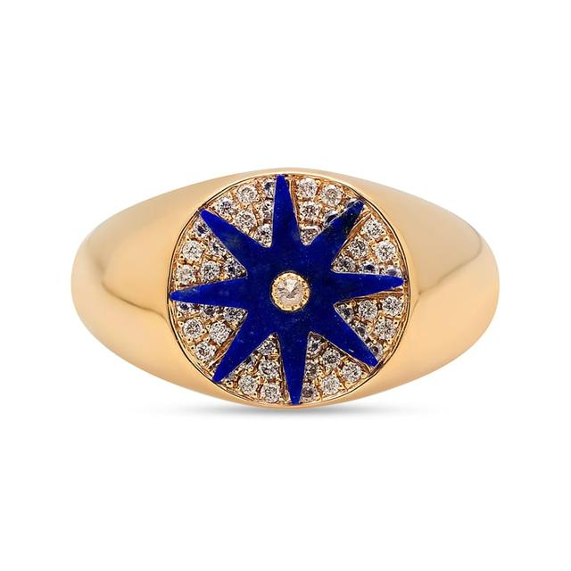 Swoonery-Star Signet Lapis Ring