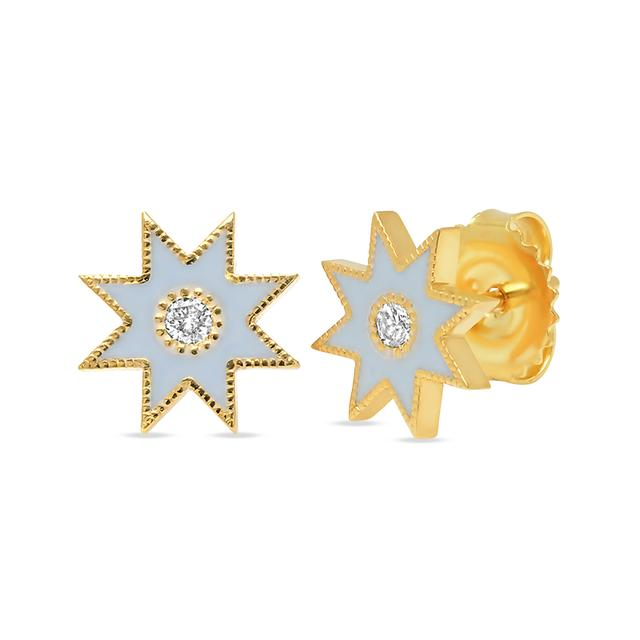 Swoonery-Frosted Twinkle Star Studs