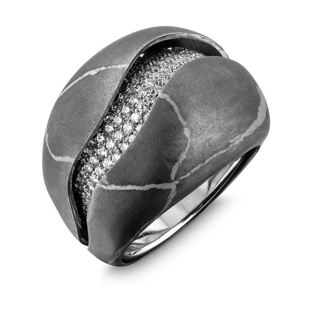Swoonery-Mechanical Pebble Stone Ring