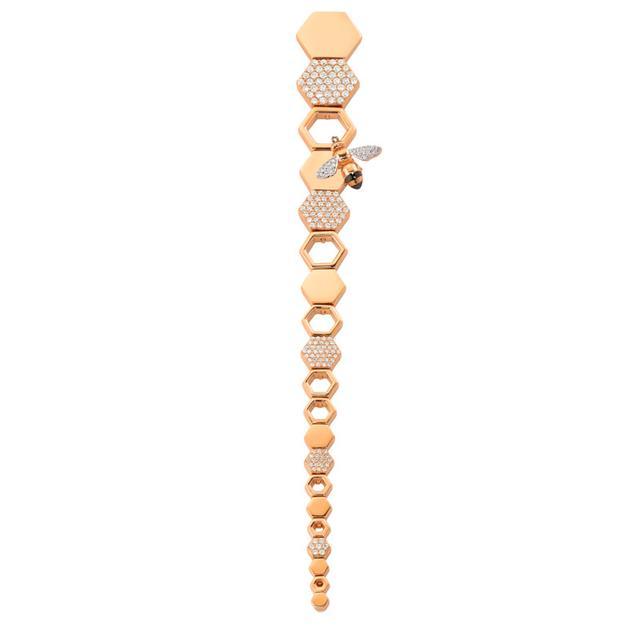 Swoonery-Queen Bee Honeycomb Earring