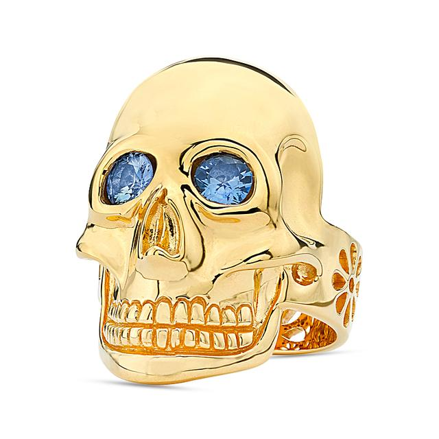 Swoonery-20K Gold Skull Ring